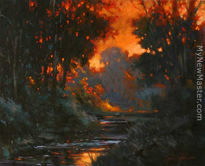 the creek at dawn