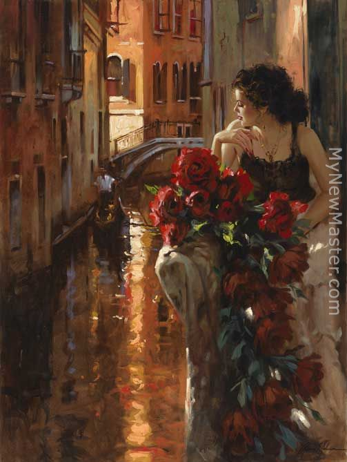 venice and roses