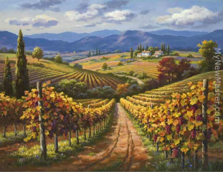 Sung Kim Vineyard Hill Ii Painting