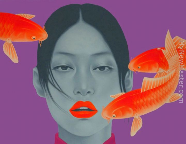 Chinese contemporary art gill fishes