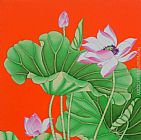 Chinese contemporary art lotus