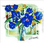 Blue Flowers In Vase