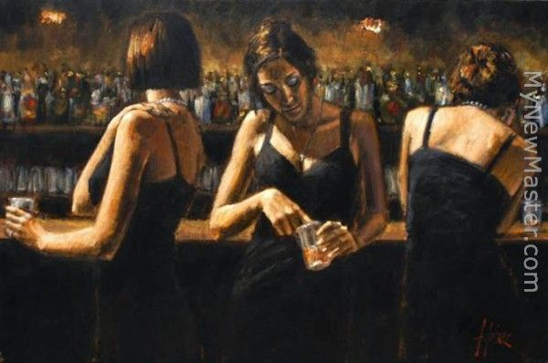 Study for Three Girls at the Bar
